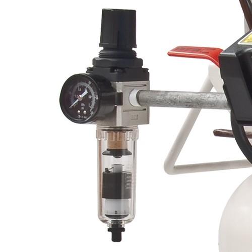 Medicair 1 hp 90l psi el050e100 090mv evans colombia for Compresor hidroneumatico